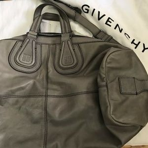 Givenchy Bags - GIVENCHY Grey Large Nightingale Duffel Bag